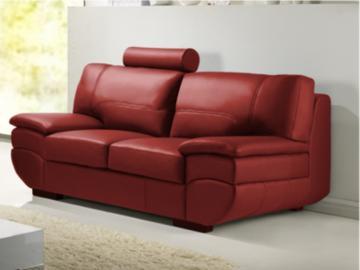 Ledersofa 2-Sitzer California II - Rot