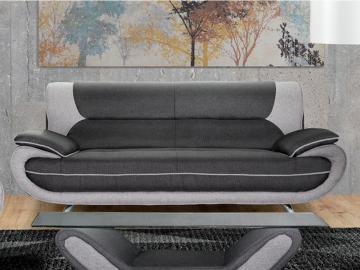 3-Sitzer-Sofa Stoff Nigel - Grau