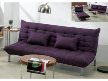 3-Sitzer Schlafsofa Stoff Hornet - Violett