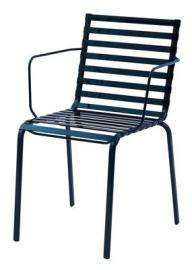 Striped Stapelbarer Sessel - Magis - Blau