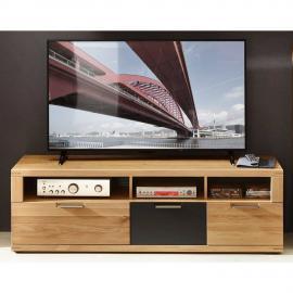TV Lowboard 160cm in Wildeiche Bianco BOZEN-36 Massivholz Fronten, B/H/T 160x52x48cm