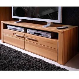 TV Lowboard Fernsehtisch DAWSON-36 mit massiven Kernbuche Fronten B/H/T 130x40x45cm