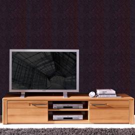 TV Lowboard mit Kernbuche Massivholz Fronten DAWSON-36 B/H/T 190x36x45cm
