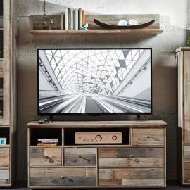 TV-Möbel Set Lowboard mit Wandregal BRANSON-36 in Driftwood brau B x H x T ca.: 130 x 170 x 52 cm