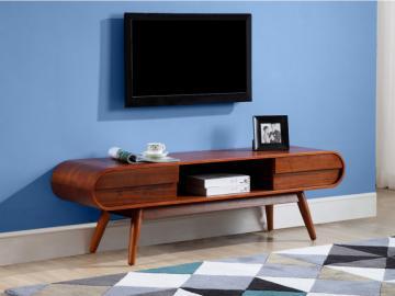 TV-Möbel Holz Daven - Nussbaumfarben