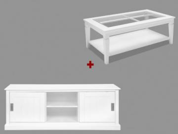 Sparset Gerande: Couchtisch + TV-Möbel Gerande (2-tlg.)