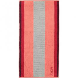 JOOP Handtücher Diamond Stripes 1669 Coral - 22 - Handtuch 50x100 cm