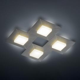 BANKAMP Diamond lampa sufitowa 42x42cm, antracyt