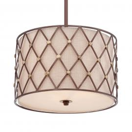 Lampa wisząca Brown Lattice Ø 40,6 cm