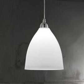 Suspension en verre PROVENZA 27 cm blanc