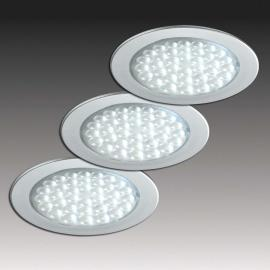 Set de 3 spots encastrables R 68-LED aspect inox