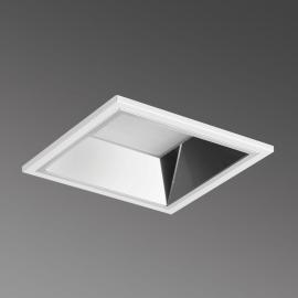 Downlight encastré LED carré Noviel M PRE, 3 000 K