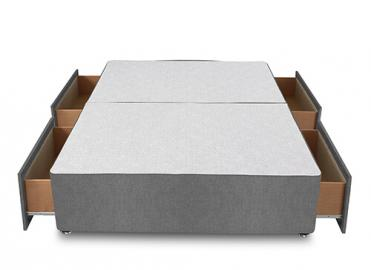 Premium Divan Base - King Size (5' x 6'6), 2 Drawers, Hyder_Chenille Cream