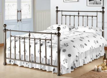 Time Living Black Nickel Alexander Bed Frame - Double (4'6 x 6'3)
