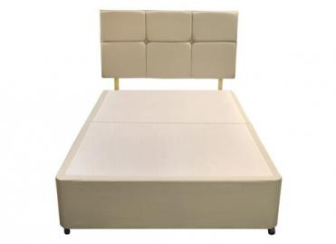 Silentnight Divan Base - Small Double (4' x 6'3), No Storage, Silentnight_Sandstone