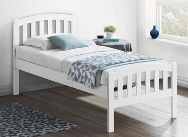 Bedmaster White Lyon Bed Frame - Single (3' x 6'3)
