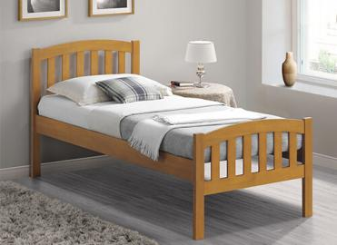 Bedmaster Oak Lyon Bed Frame - Single (3' x 6'3)
