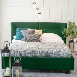 Urban Deco Simba Emerald Green Velvet 5ft King Size Bed