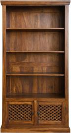 Jali Indian Sheesham Wood 2 Door Bookcase