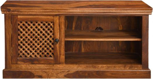 Jali Indian Sheesham Wood Large 115cm Entertainment Unit