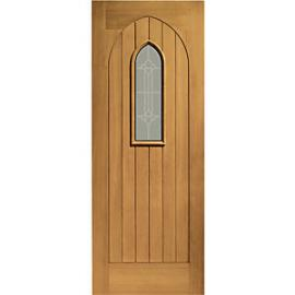 XL Westminster External Oak Right Handed Fully Finished Door Set 2067 x 926mm