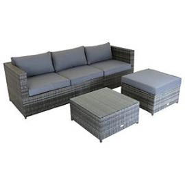 Charles Bentley Corner Sofa Lounge Set Grey