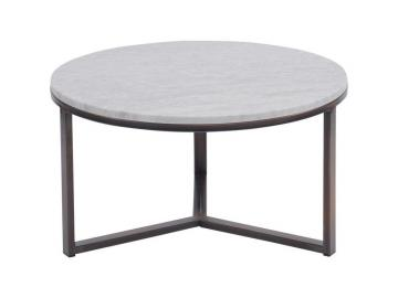 Massa Pale Grey Carrara Marble Coffee Table - Large