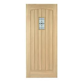 Wickes Croft External Cottage Oak Door Glazed 1981 x 762mm