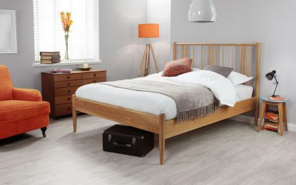 Silentnight Hamilton Solid Oak Bed Frame, Double