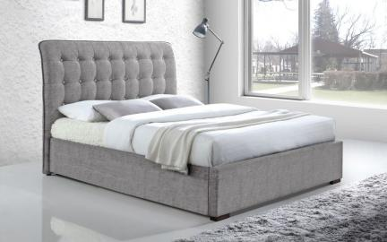 Time Living Hamilton Fabric Bed Frame, Double, Dark Grey