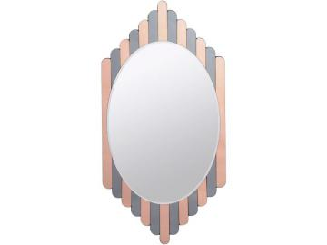 Vaudeville Striped Oval Mirror