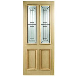 Wickes Malton External Oak Door Glazed 2 Panel - 1981 x 762mm
