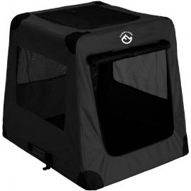 Autotransportbox Schwarz- L 82cm x B 58cmx H 68cm Hundebox faltbar - FARM-LAND