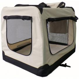 Sam's Pet faltbare Hundetransportbox Lassie L in beige - SAM´S PET