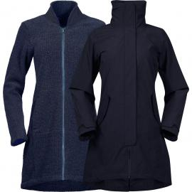 Bergans Damen Oslo 3in1 Mantel Blau XL