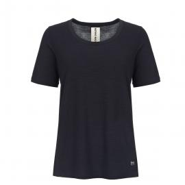 Super.Natural Damen Panel T-Shirt (Größe S, Schwarz) | T-Shirts Merino > Damen