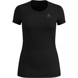 Odlo Damen Suw Top Crew Neck Natural Light T-Shirt (Größe XS, Schwarz) | Kurzarm Unterhemden > Damen