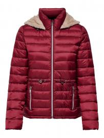 ONLY Kurze Steppjacke Damen Brown; Red