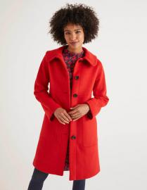 Pym Mantel Red Damen Boden, Red