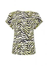 Zebra Print Button T-Shirt - Dorothy Perkins