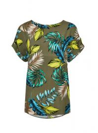 **Tall Khaki Tropical Print T-Shirt - Dorothy Perkins
