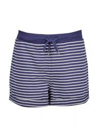 Navy Striped Loop Back Cotton Shorts - Dorothy Perkins