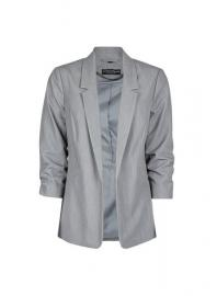 Grey Ruched Sleeve Jacket - Dorothy Perkins