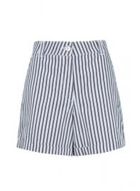 Navy Stripe Print Shorts - Dorothy Perkins