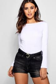 Womens Petite Basic Long Sleeve Top - white - 32, White - Boohoo.com