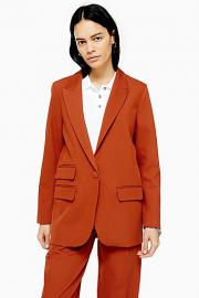 Einreihiger Blazer - Orange - Topshop