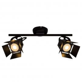 2-lamps LED spot plafondlamp Movie, zwart