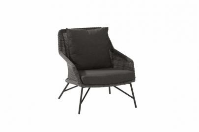 4SO Samoa lounge tuinstoel - charcoal - Tuinmeubelen