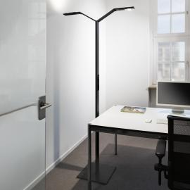Luctra Floor Twin Lineair LED vloerlamp zwart