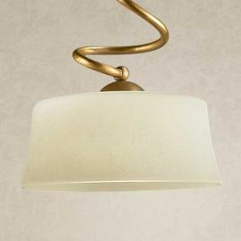 Hanglamp Alessio met Scavo-glas, 1-lamps